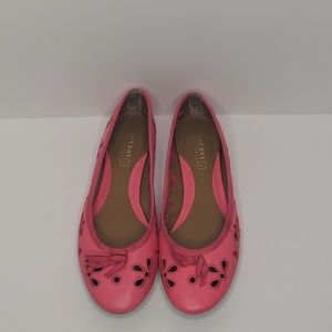 Sperry Pink Leather Top Siders